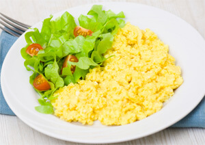 Toddler breakfast recipe tip 2: Cheese Scramble